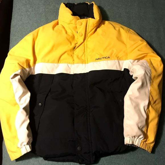 Nautica Jackets Coats Mens Vintage Reversible Down Jacketlarge